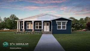 Model 16 - 2,772 sq. ft. Ranch – 4 Bedroom, 3 Bath, 3 Wide, covered front porch – Craftsman