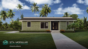 Model 24 – 988 sq. ft. ADU – 2 Bedroom, 2 Bath, unique roof – Contemporary