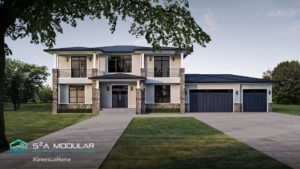 Model 3 – 3,884 sq. ft. 2 Story – 4 Bedroom, 3 ½ Bath, Panoramic doors to large rear deck - Contemporary